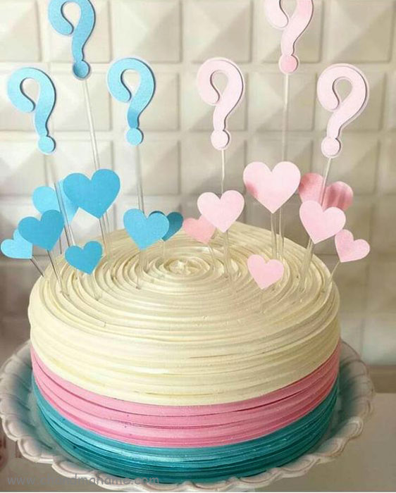 مدل تزیین کیک جشن تعیین جنسیت - چندماهمه