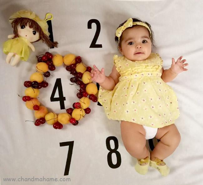 ایده عکس نوزاد دختر مدل خلاقانه - چندماهمه