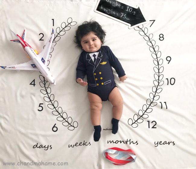 عکس نوزاد پسر در ماهگرد تولد - چندماهمه