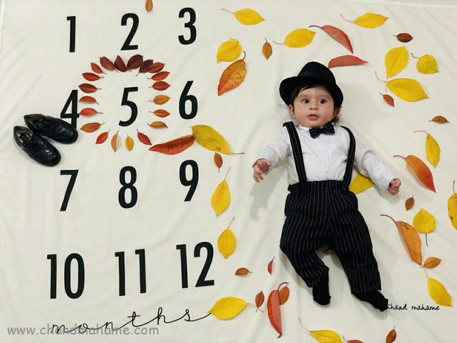مدل عکس از نوزاد پسر پاییزی - چندماهمه
