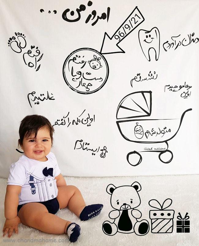 ایده عکس نوزاد پسر در مراحل مهم رشد - چندماهمه