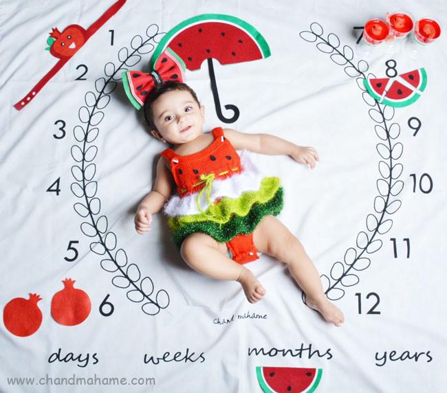 تم عکس نوزاد دختر در شب یلدا - چندماهمه