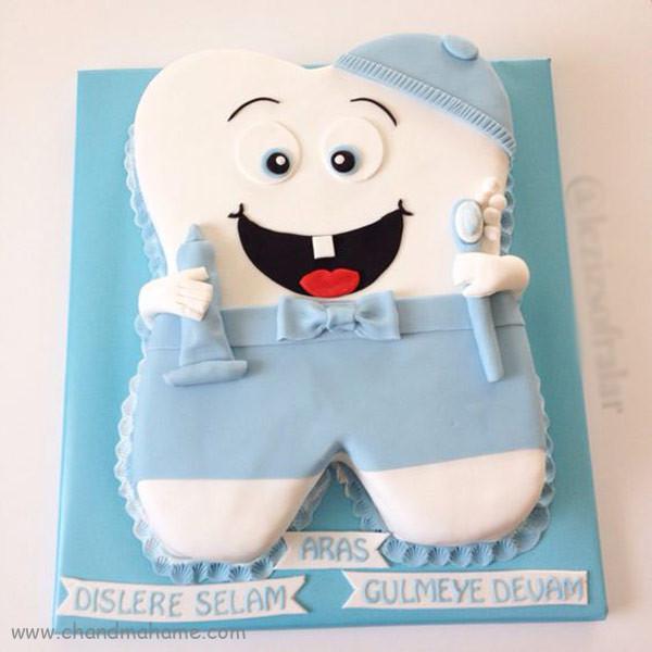 مدل کیک جشن دندونی پسرانه - چندماهمه