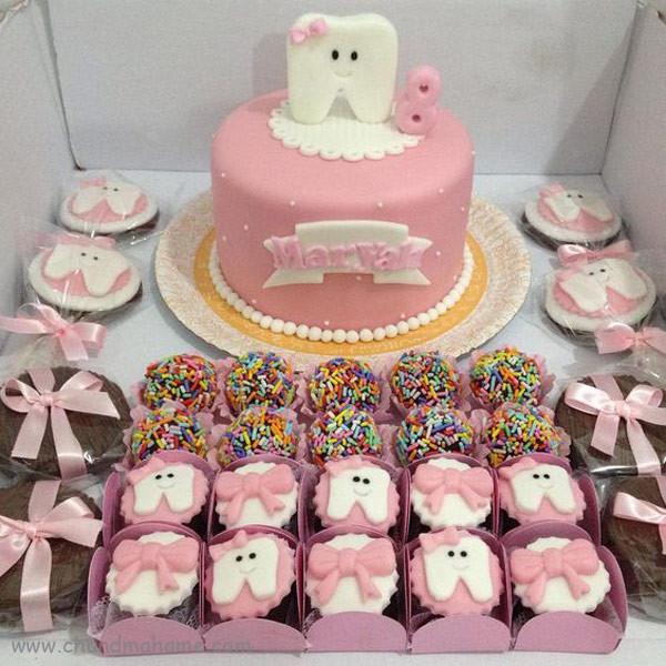 مدل کیک جشن دندونی - چندماهمه