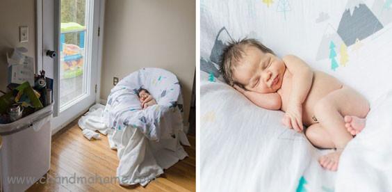 درست کردن جایگاه عکس خانگی نوزاد و کودک با پارچه - چندماهمه