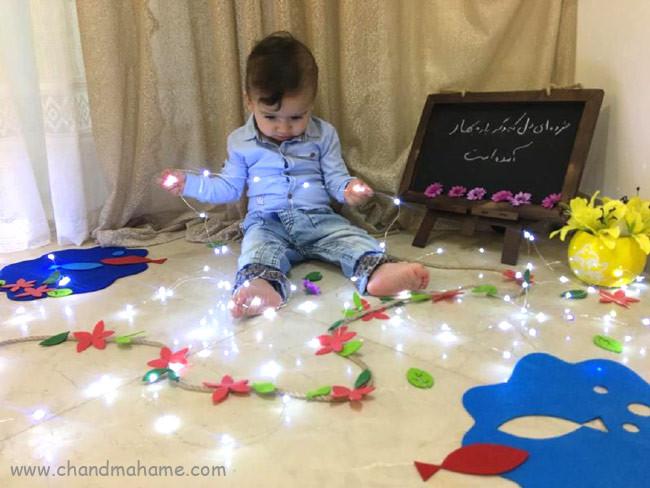 ایده عکس کودک در منزل در بهار - چندماهمه