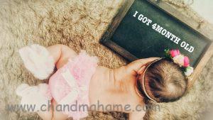 عکس نوزاد دختر برای ماهگرد تولد مدل مجلسی - چندماهمه