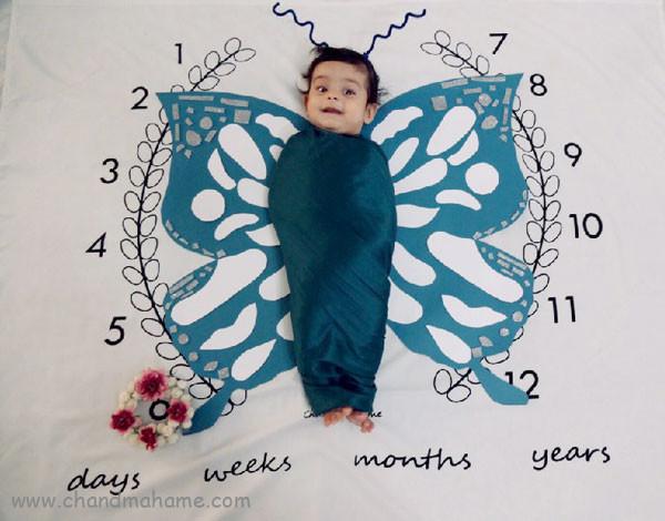 ایده عکس ماهانه نوزاد- عکس شش ماهگی کودک - جندماهمه