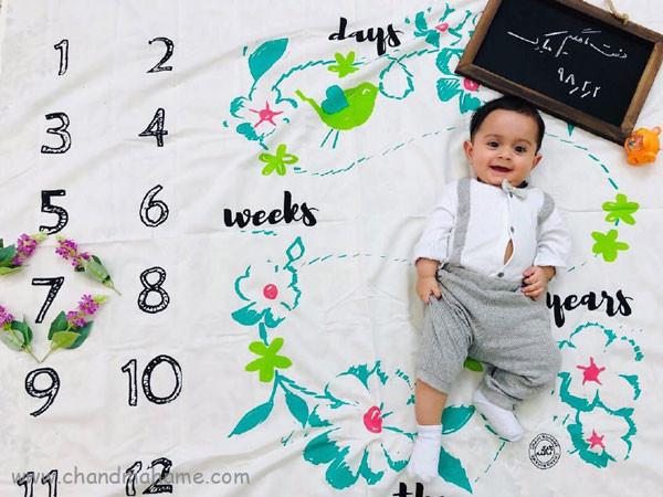 ایده عکس ماهانه نوزاد- عکس هفت ماهگی کودک - جندماهمه