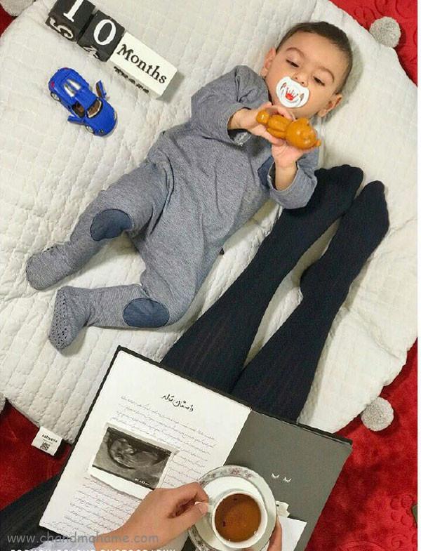 ایده عکس ماهانه نوزاد- عکس ده ماهگی کودک - جندماهمه