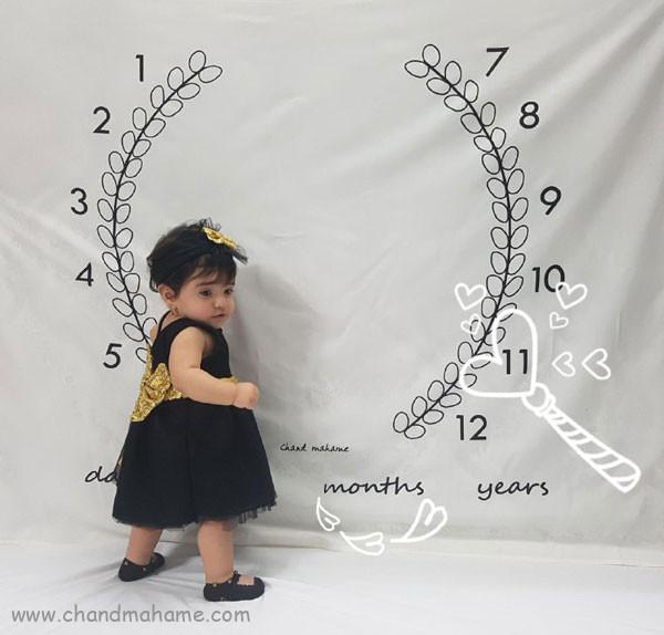 ایده عکس ماهانه نوزاد- عکس یازده ماهگی کودک - جندماهمه