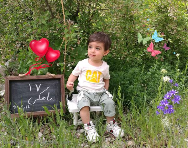 ایده عکس ماهانه نوزاد- عکس هفده ماهگی کودک - جندماهمه