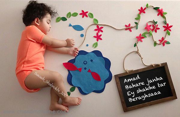 ایده عکس ماهانه نوزاد- عکس کودک - جندماهمه