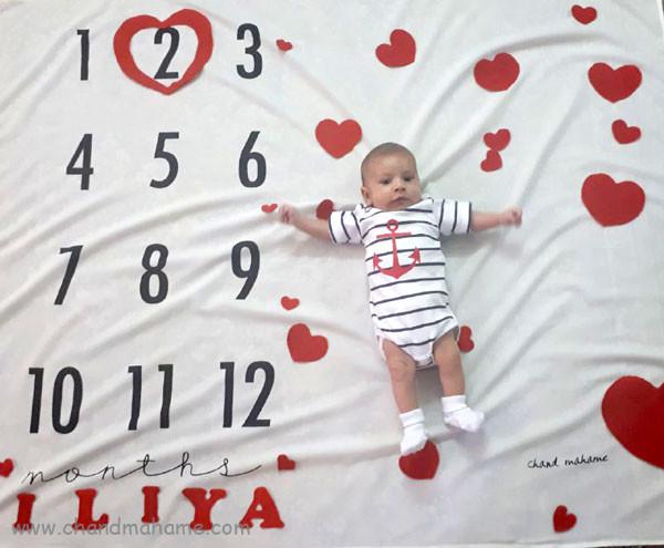 ایده عکس ماهانه نوزاد- عکس دو ماهگی کودک - جندماهمه