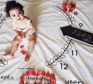 عکس نوزاد دختر با تم عکاسی - چندماهمه