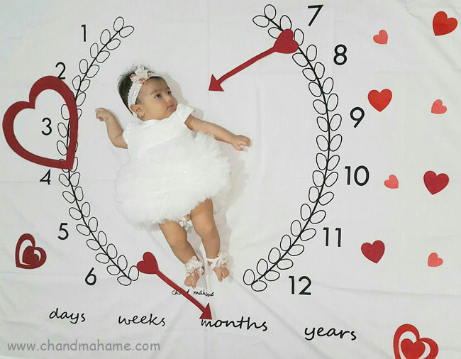 مدل عکس نوزاد دختر برای جشن ها - چندماهمه