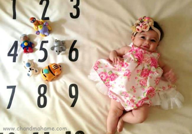 عکس نوزاد دختر در ماهگردهای تولد - چندماهمه