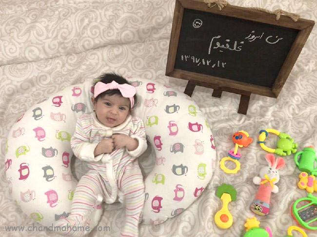 عکس نوزاد دختر در مراحل مهم رشد - چندماهمه