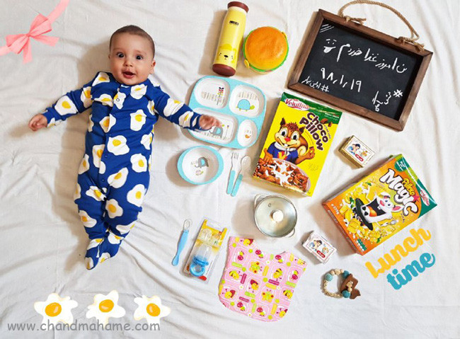 ایده عکس از نوزاد پسر - چندماهمه
