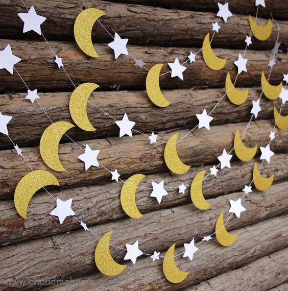 کاردستی و تزیینات ماه رمضان مدل ماه و ستاره - چندماهمه