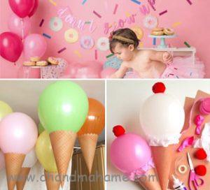 تم تولد کودک مدل بستنی برای تم عکاسی تابستانی - چندماهمه
