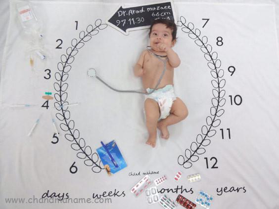 تم عکاسی واکسن نوزاد در چهار ماهگی- چندماهمه