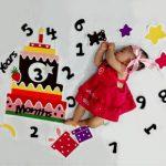 ایده عکس نوزاد سه ماهه در خانه - چندماهمه