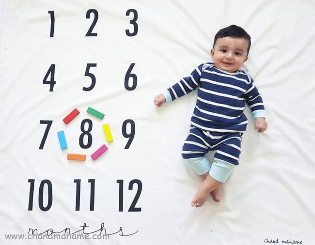 ایده عکس نوزاد هشت ماهه - چندماهمه