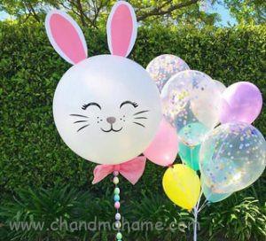 تزیین تم تولد کودک مدل خرگوش - چندماهمه