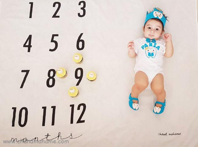 عکس ماهگرد نوزاد 9 ماهه در خانه - چندماهمه