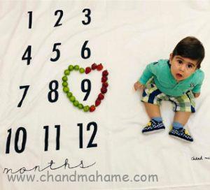 مدل عکس ماهگرد نوزاد 9 ماهه در خانه - چندماهمه