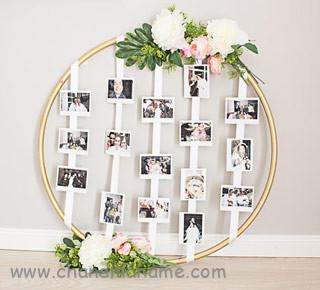 ساخت آلبوم عکس دیواری مدل حلقه ای در خانه -چندماهمه