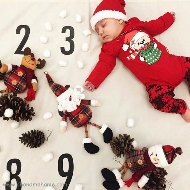 ایده عکس نوزاد با تم کریسمس