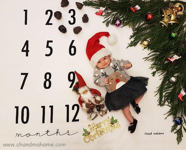 عکس نوزاد با تم کریسمس