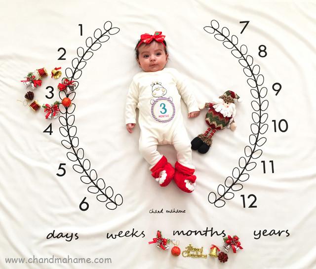 عکاسی از نوزاد در کریسمس