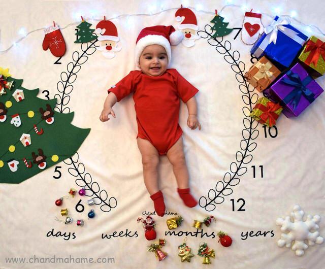 تزیین کریسمس برای عکاسی