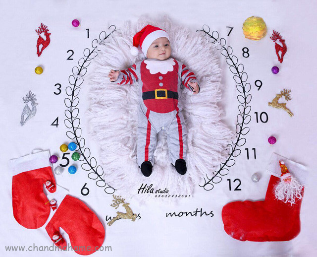 عکس نوزاد در کریسمس