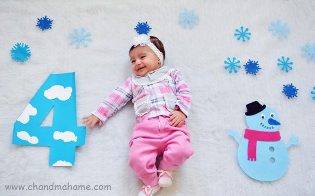 عکس نوزاد با تم زمستان