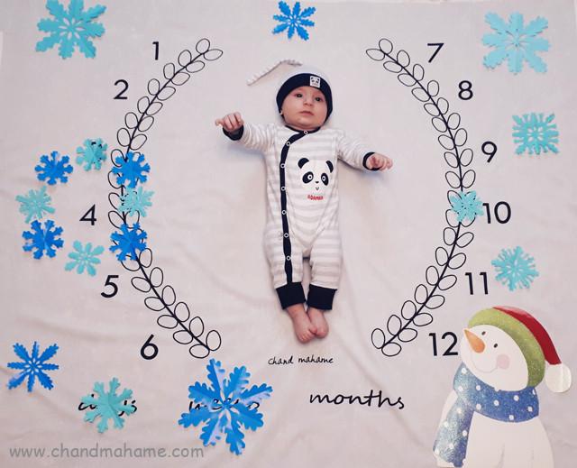 عکس-نوزاد-با-تم-زمستان