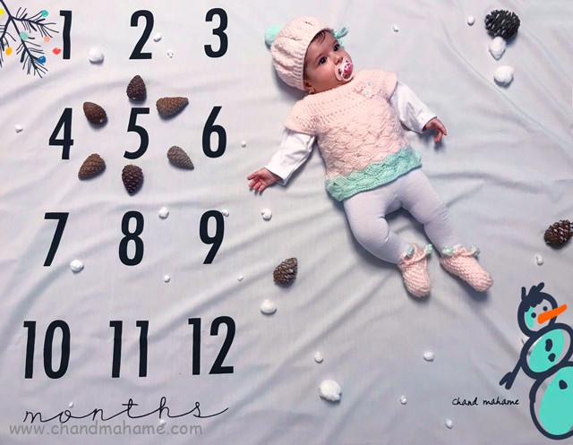 عکس نوزاد پنج ماهه زمستانی