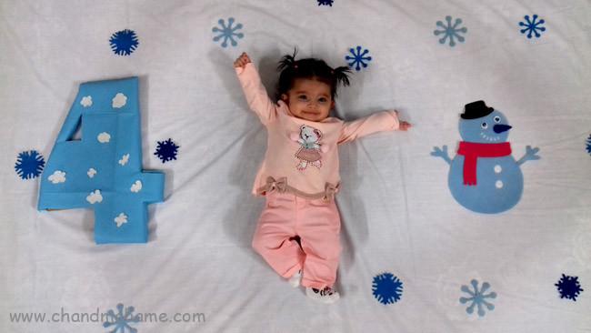 متن ماهگرد نوزاد در زمستان - چندماهمه