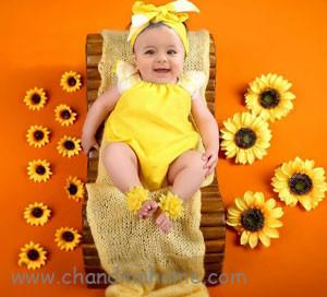 تم گل برای عکس نوزاد