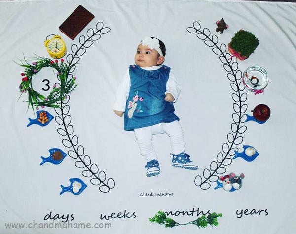 ایده عکس بهاری نوزاد