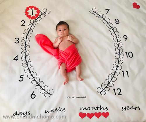 عکس نوزاد یک ماهه